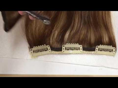 Clip In Hair Extensions making a Quad weft or halo hair extensions