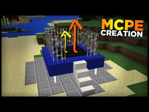 How to make a TRAMPOLINE in Minecraft MCPE! (MCPE commands)