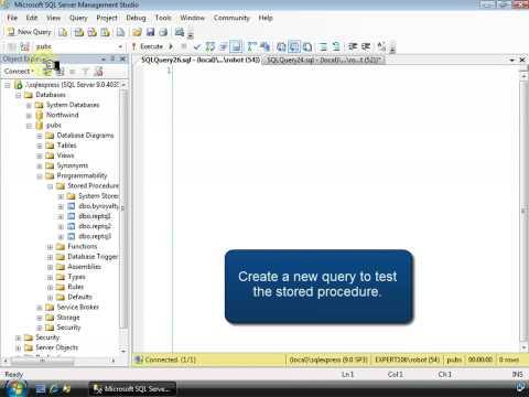 SQL Stored Procedure Tutorial