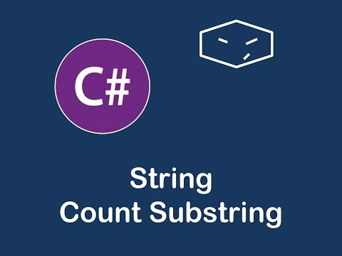 string count substring in c#