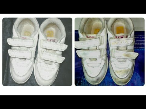 How to clean white shoes with toothpaste /  white shoes cleaning easy metood