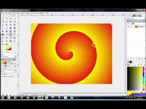 Gimp 2.8 Tools Tutorial - how to use Paint Tools, pt 1