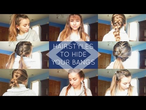 HEATLESS HAIRSTYLES TO HIDE YOUR BANGS