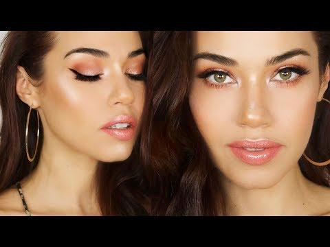 Peach Gold Spring Makeup Tutorial | Eman