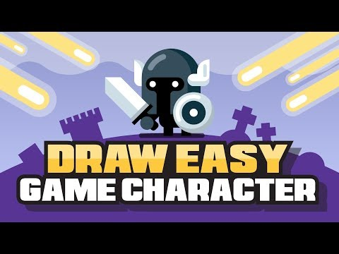 How To Draw A Video Game Character -- EASY -- Adobe Illustrator Flat Design Tutorial