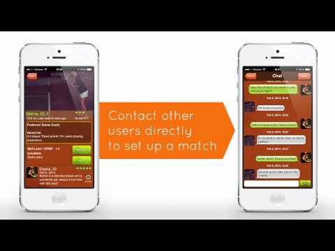 Tennis Buddy app - Find a tennis partner nearby within minutes