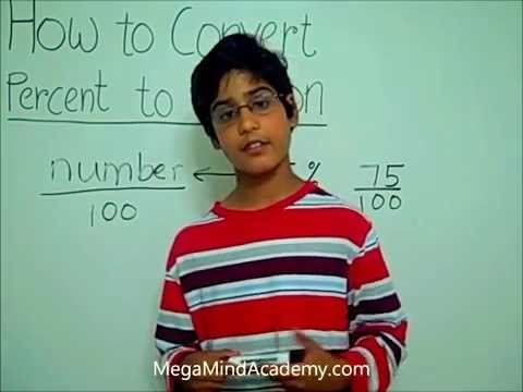 How to Convert Percent to Fractions.wmv