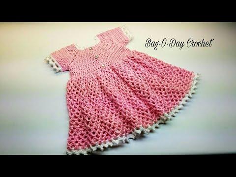 CROCHET DRESS For EverRose My Princess CROCHET Toddler Baby Girl Dress #CROCHET TUTORIAL #409