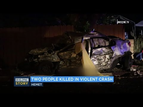Hemet: Two Killed and One Injured in Major Crash