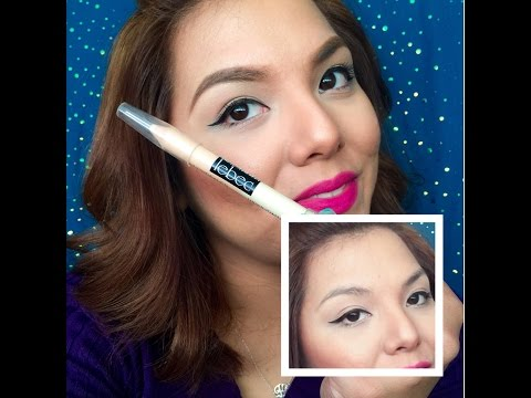 How to define brows using Lebec's concealer pencil
