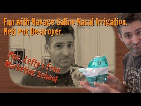 Navage Saline Nasal Irrigation Review. Neti Pot Destroyer. Lefty's Free Marketing School
