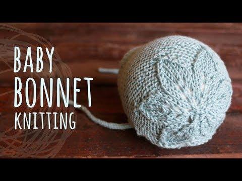 Tutorial Baby Bonnet Knitting (0-6 Months)