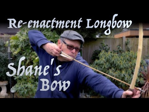 Shane's Re-enactment Longbow. I Make an Ash Longbow & Launch an Arrow Cam. Viking Re-enactor