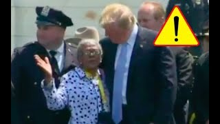 Trump Hugs and Kisses 90 YEAR OLD Black Grandmother And Honors Beautiful Family Of Fallen Officer