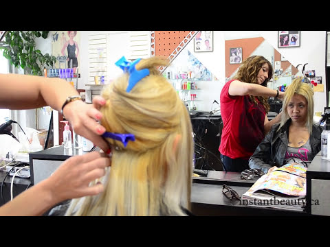 Keratin Hot Fusion Hair Extensions - Application - Blonde | Instant Beauty ♡