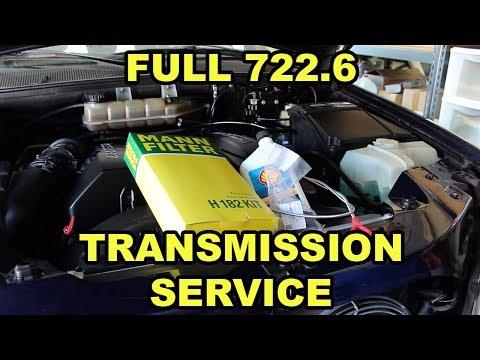 Mercedes Benz 722.6 Transmission Fluid, Filter, and Pilot Bushing Change