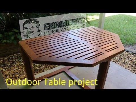 Woodworking - outdoor patio table