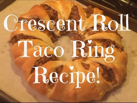 ♥♥ Crescent Roll Taco Ring Recipe! ♥♥ | Path To Debt Freedom