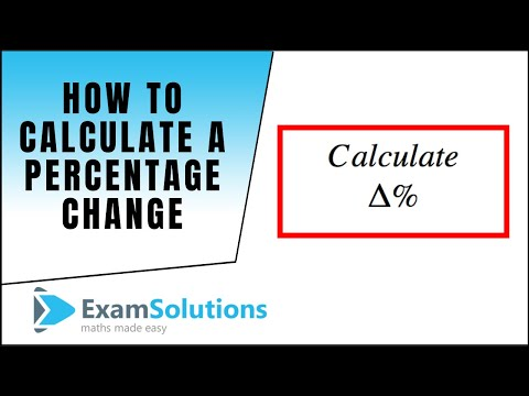 How to calculate a percentage change : ExamSolutions Maths Revision