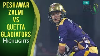 PSL 2017 Play-off 1: Peshawar Zalmi vs. Quetta Gladiators Highlights