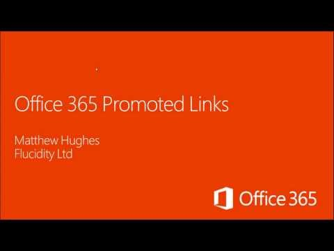 Office 365 Promoted Links Demo