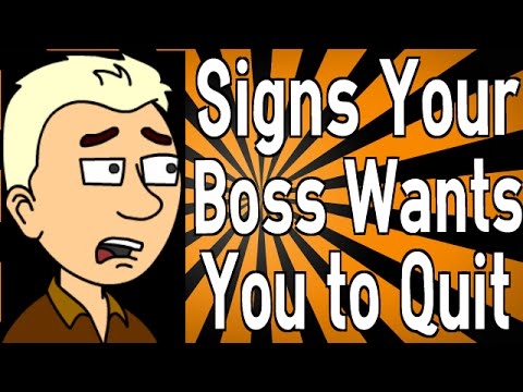 Signs Your Boss Wants You to Quit