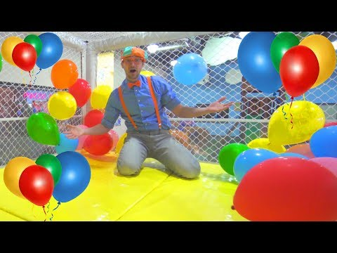 Blippi at the Indoor Playground to Learn Colors   Educational Videos for Toddlers