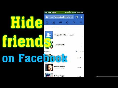how to hide friends list on facebook on mobile 2017