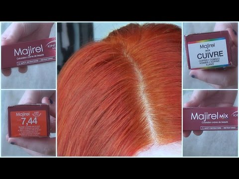 Dying My Hair Copper Red  |  L'Oréal Majirel 7.44
