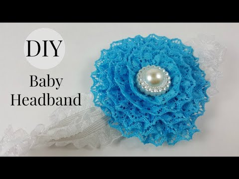 DIY Baby Headband / Super Fast and Easy Lace Flower