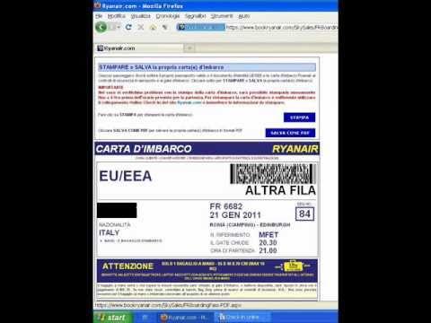 Guida al check-in online Ryanair