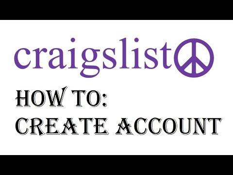 Craigslist Account Sign up - How to Setup Create an Account on Craigslist