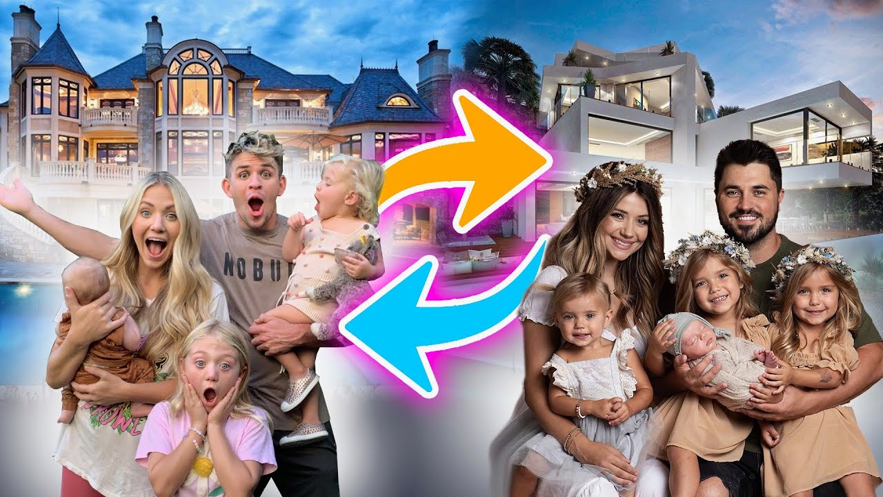 Swapping Houses For 24 Hours With Madison's Family! - challenge