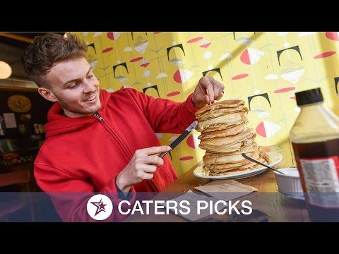Foodie Takes on Huge Pancake Challenge