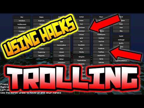I USE THE BEST HACK IN MINECRAFT TO TROLL!!