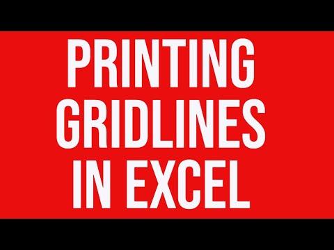 Printing gridlines Excel