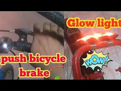 How to make cycle brake light   how to fix cycle brake light