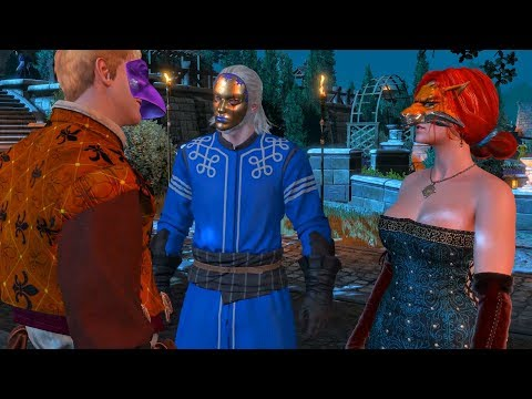 Geralt Beats a Jerk Mistaking Triss for a Prostitute at the Ball (Witcher 3)