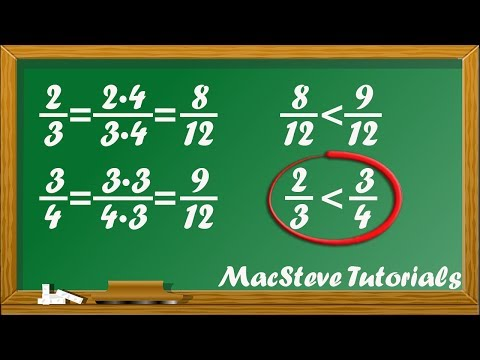 How to find least common denominator LCD and compare fractions by MacSteve Tutorials