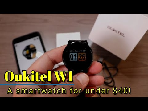 Oukitel W1 - A smartwatch with a lot of features for under $40!