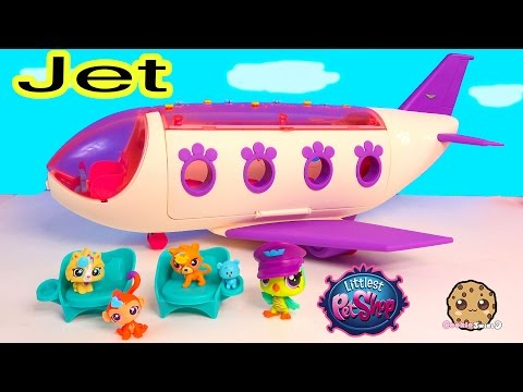 LPS Airplan JET Playset Littlest Pet Shop Exclusive Bobbleheads Toy Unboxing Video - Cookieswirlc