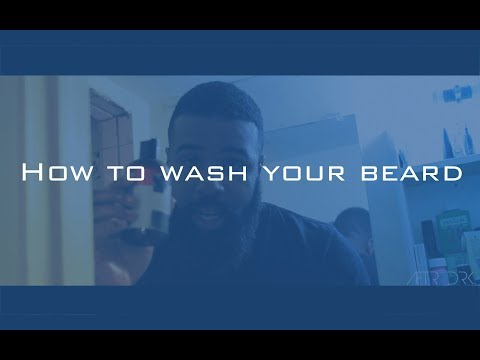 How to wash your beard?