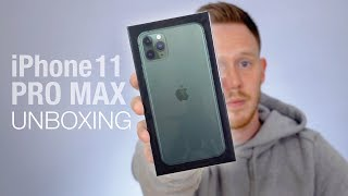 UNBOXING The Apple iPhone 11 PRO MAX in Midnight Green