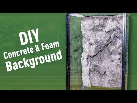 DIY Concrete & Foam Background