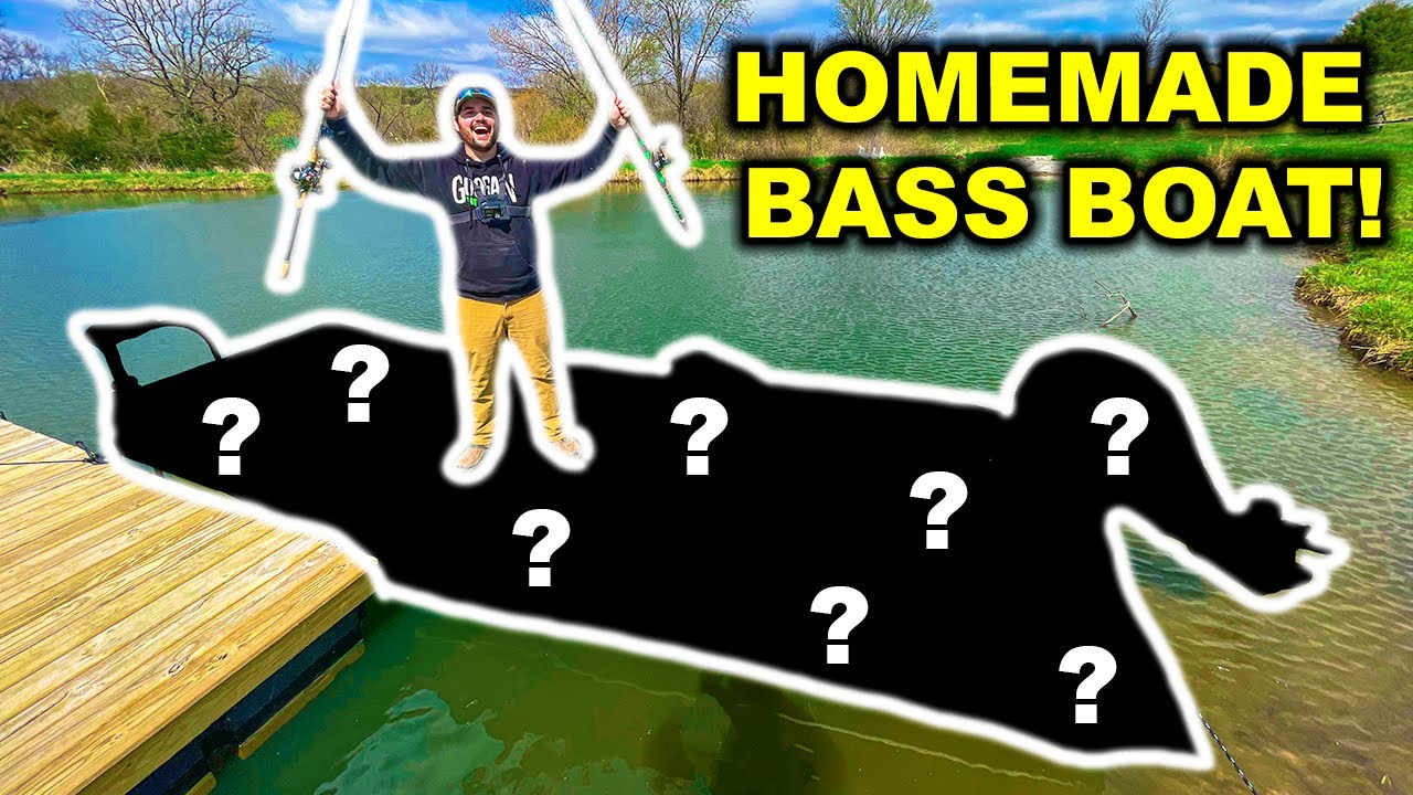 Building a HOMEMADE DIY Bass Boat for My BACKYARD POND!!!
