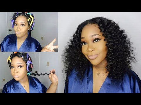 DIY SEW IN UPDATE   Flexi-Rod Hairstyle   Raw Indian Curly Hair   Leyonda's Hair Boutique