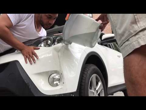 How to fix a car bumper dent with hot water