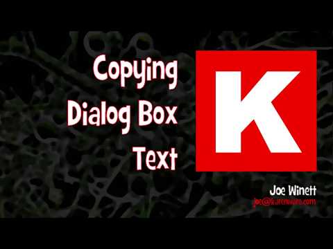 Copying Dialog Box Text in Windows