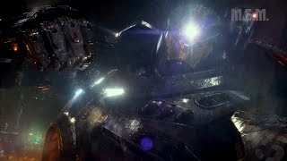 Pacific Rim (2013) - Gipsy Danger vs LeatherBack (Emp/Fat Kaiju) - Pure Action [1080p]