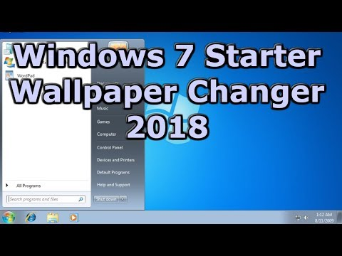 How to change Wallpapers on Windows 7 Starter in 2018